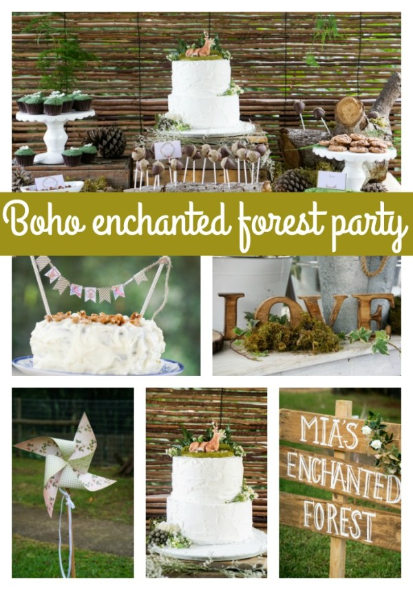 Boho Enchanted Forest Party via Pretty My Party