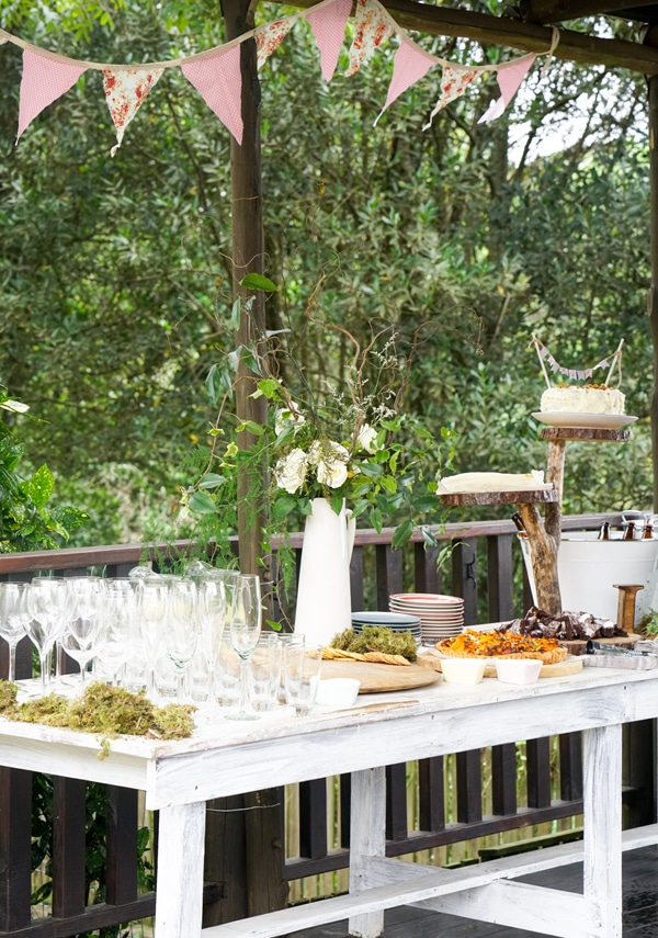 Boho Enchanted Forest Party Decorations via Pretty My Party | www.prettymyparty.com