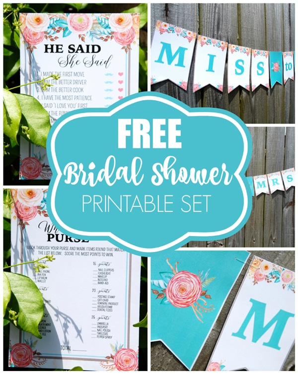 Free Bridal Shower Printables - Pretty My Party