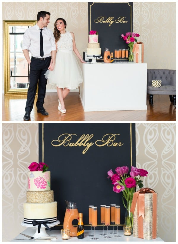 Kate Spade Bridal Shower Bubbly Bar