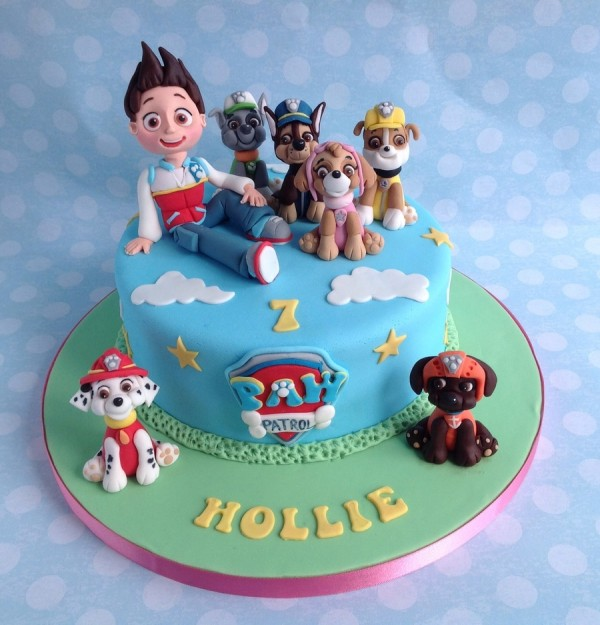 Small Blue Paw Patrol Cake