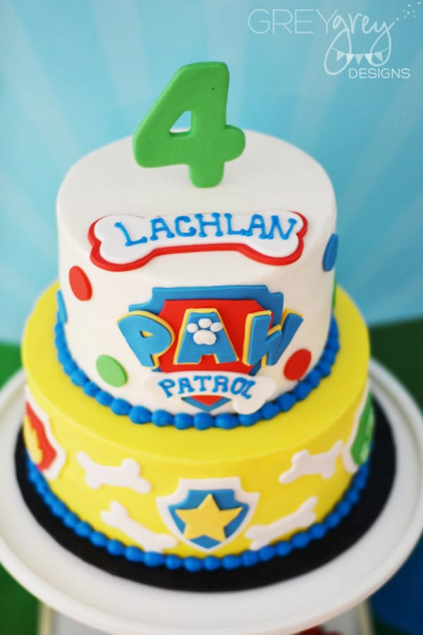 Two Tier Paw Patrol Birthday Cake