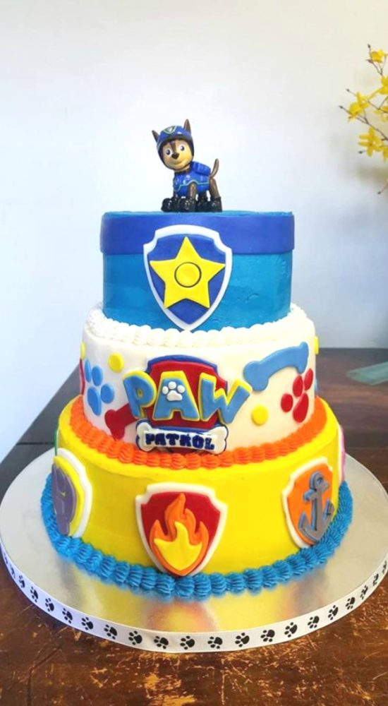 Paw Patrol Cake with Chase Topper