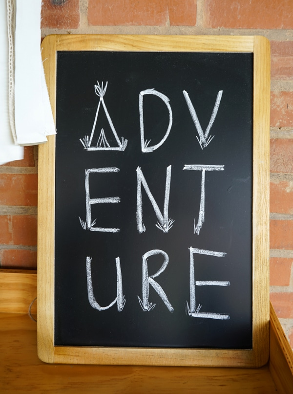 tribal-party-adventure-sign