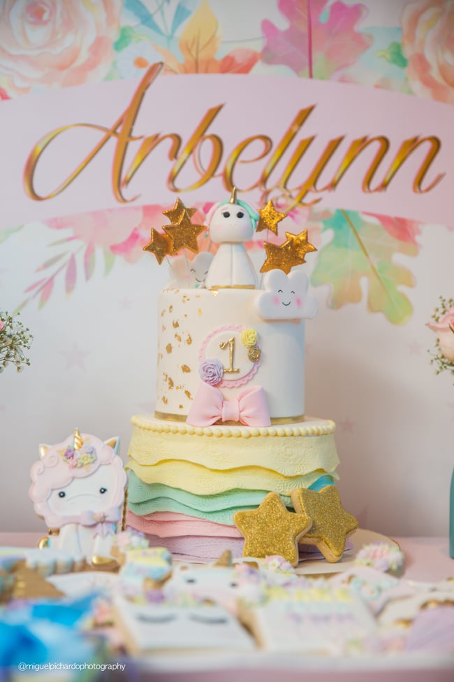 Baby Unicorn 1st Birthday Cake