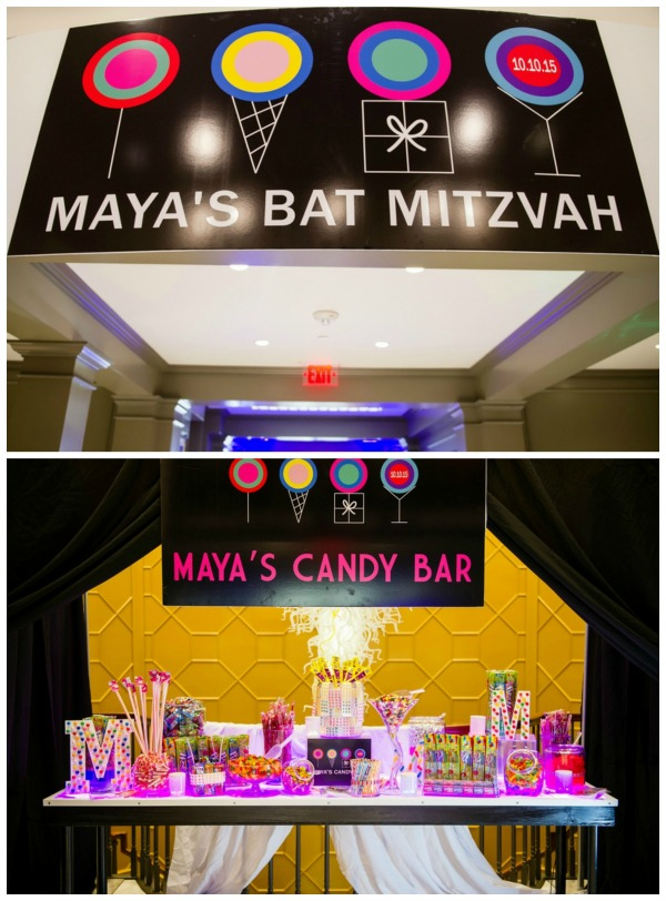 Candy Themed Bat Mitzvah Pretty My Party Party Ideas