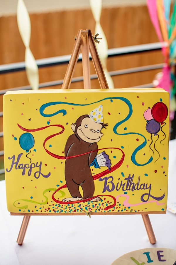 Curious George Canvas Painting