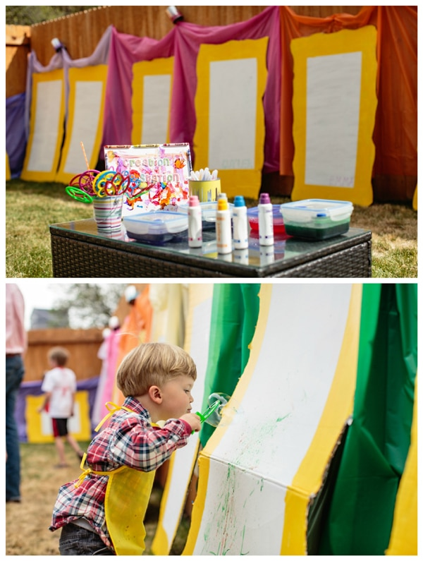 Backyard Art Painting Party For Kids
