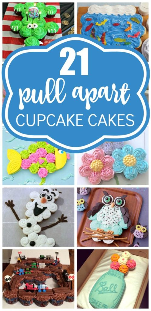 21 Pull Apart Cupcake Cake Ideas on Pretty My Party