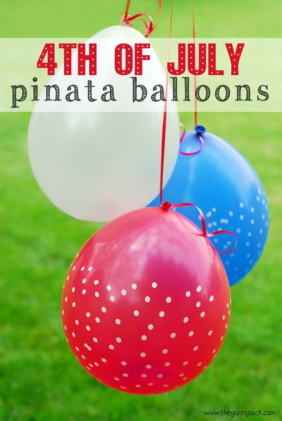 2 4th of July Pinata Balloons, 20 Ideas for Celebrating 4th of July via Pretty My Party