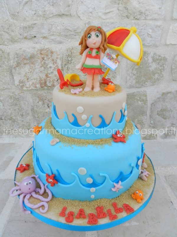 Beach Cake, 21 Sizzling Summer Birthday Cake Ideas | Pretty My Party