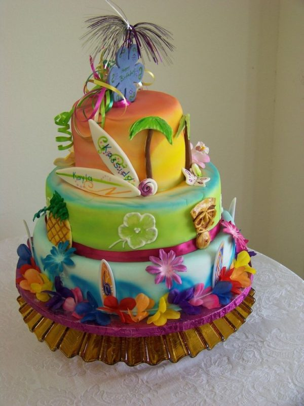 Hawaiian Luau Cake 21 Sizzling Summer Birthday Ideas