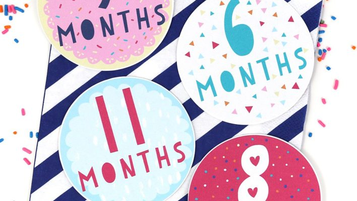 9 Free Printable Monthly Baby Stickers