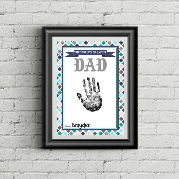Free Father's Day Handprint Printable | Pretty My Party