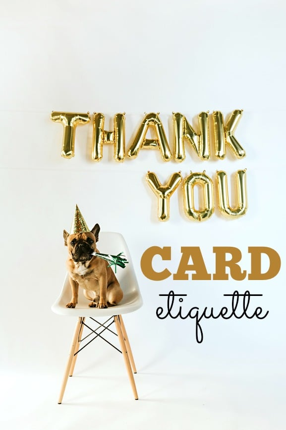 Thank you card etiquette | Pretty My Party