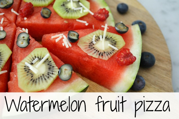 Summer Watermelon Fruit Pizza Recipe | Pretty My Party