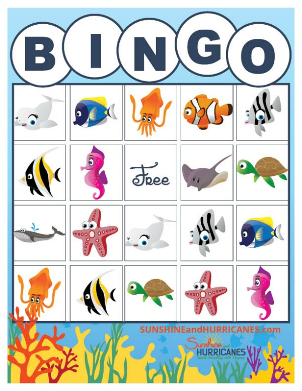 Printable BINGO, Finding Dory Birthday Party Ideas | Pretty My Party