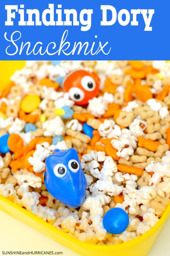 Dory Snack Mix, Finding Dory Birthday Party Ideas | Pretty My Party