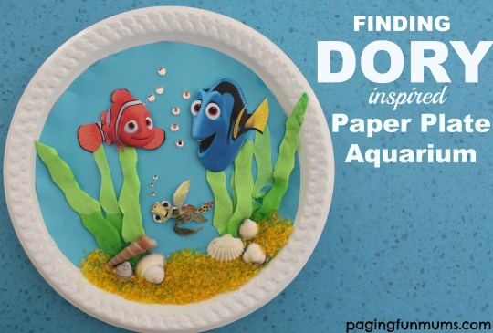 Dory Paper Plate Craft, Finding Dory Birthday Party Ideas | Pretty My Party