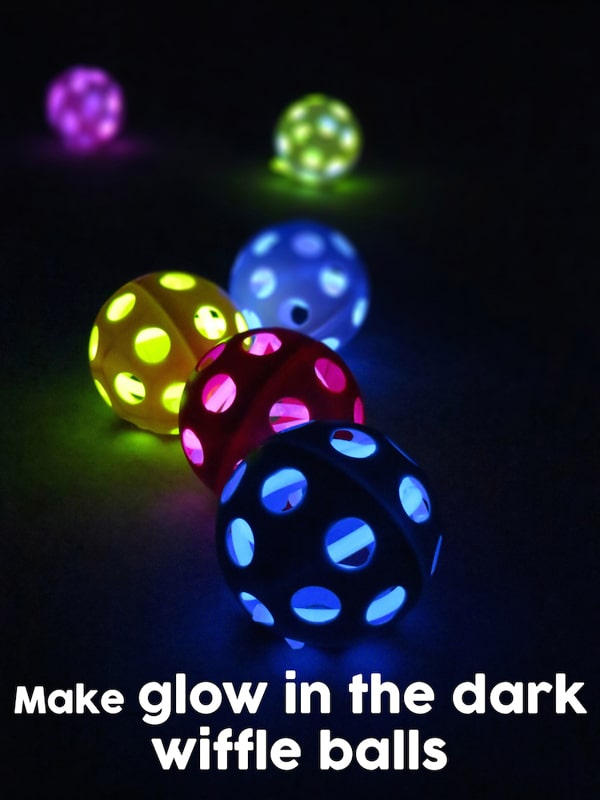 Glow in the Dark Wiffle Ball Favors | Budget Birthday Favors via Pretty My Party