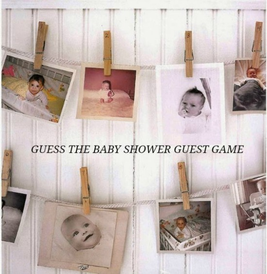 Guess the Guest Game, Fun Baby Shower Games