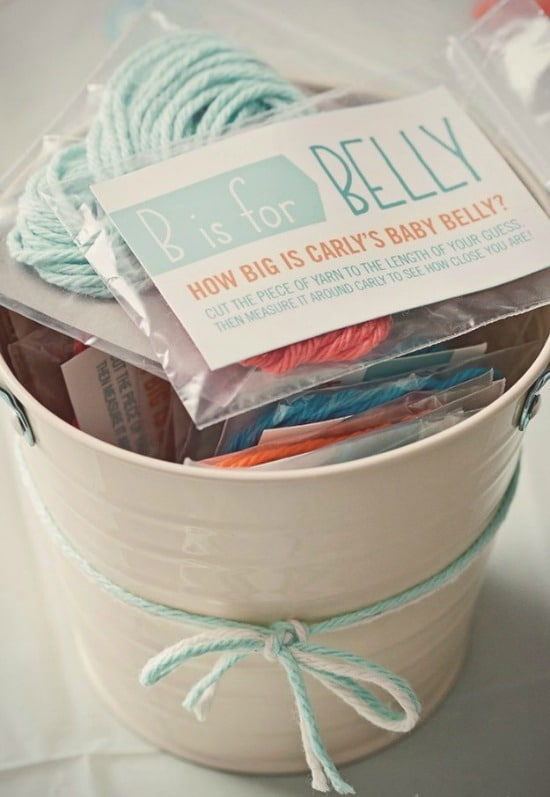 Measure Moms Belly - Classic Baby Shower Games