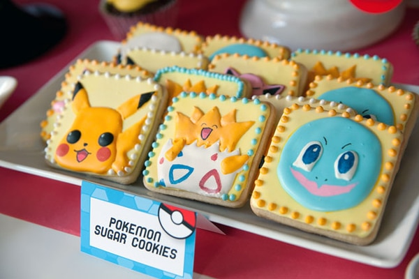 Creative Pokemon Birthday Party Cookies - Pretty My Party