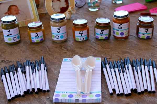 Guess the Baby Food Game, Baby Shower Games