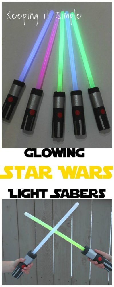 Star Wars DIY Light Sabers | Budget Birthday Favors via Pretty My Party