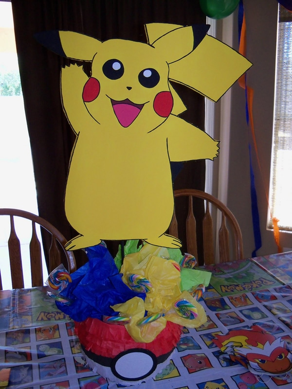 DIY Pikachu Table Centerpiece - Creative Pokemon Birthday Party Ideas - Pretty My Party