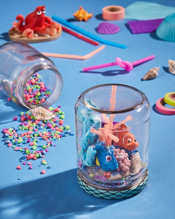 40 finding dory birthday party ideas pretty my party diy dory jars finding dory birthday party ideas pretty my party solutioingenieria Gallery