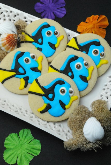 Dory Cookies, Finding Dory Birthday Party Ideas | Pretty My Party