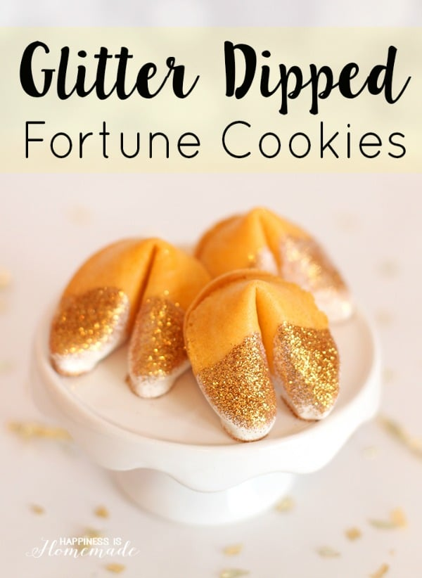 Glitter Fortune Cookie Favors | Budget Birthday Favors via Pretty My Party