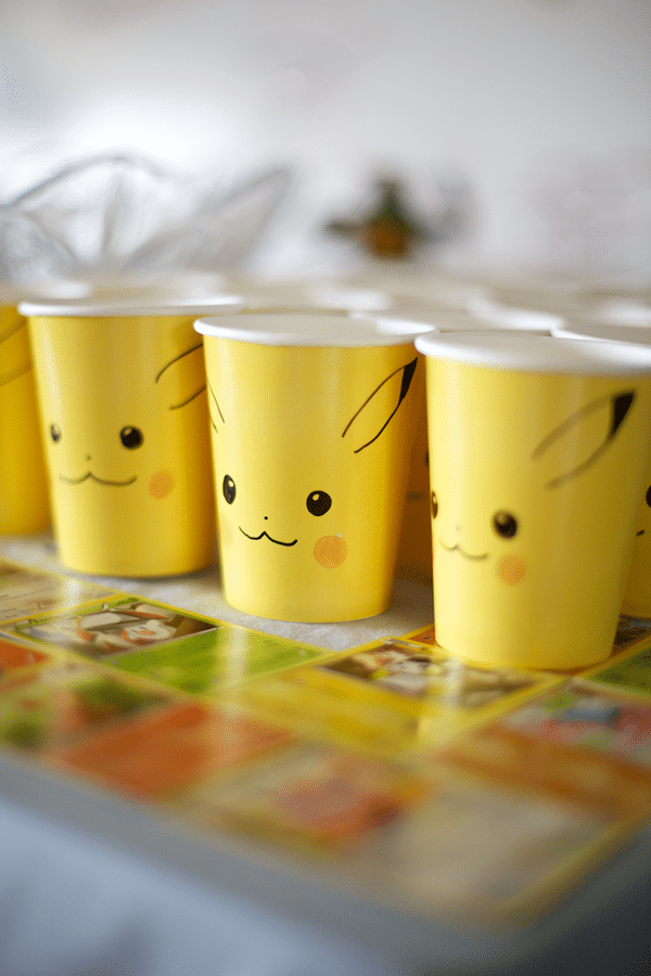 Creative Pokemon Birthday Party Pikachu Cups - Pretty My Party