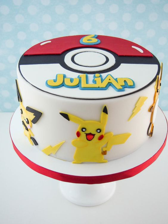 Creative Pokemon Birthday Party Cake - Pretty My Party