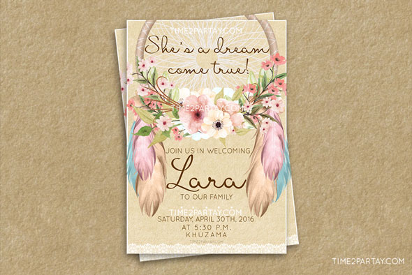 Dream-Catcher-Shower-Invitation