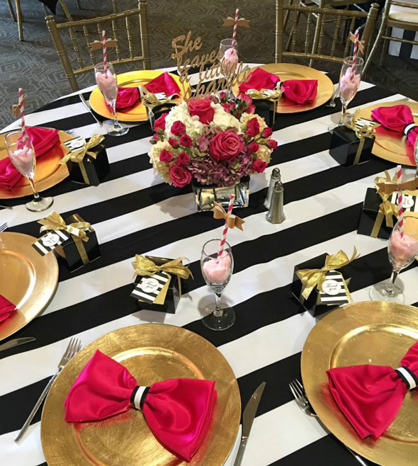 Kate Spade Birthday Celebration Table Idea via Pretty My Party
