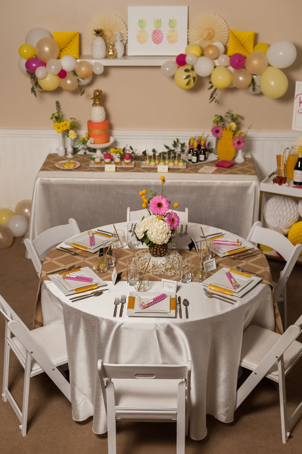 Pinele Themed Bridal Shower Table Setting Via Pretty My Party