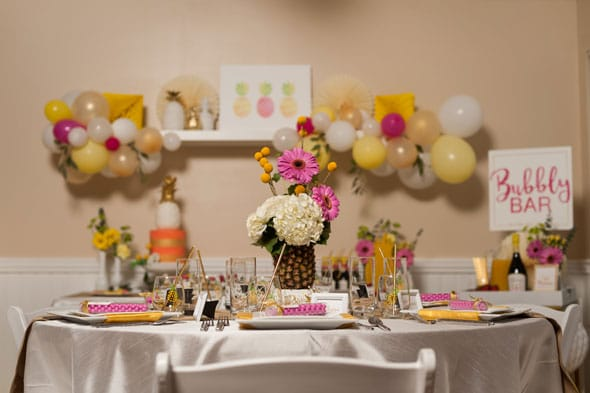 pineapple themed bridal shower via pretty my party