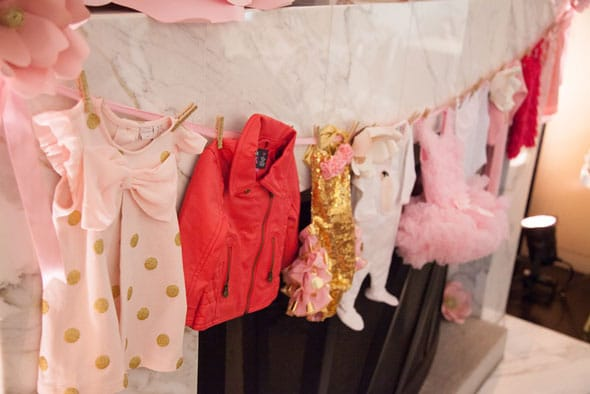 Tutu Cute Baby Shower Onesies via Pretty My Party