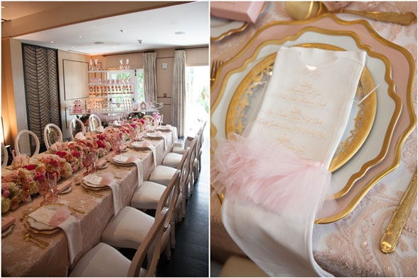Tutu Cute Baby Shower Table Setting via Pretty My Party