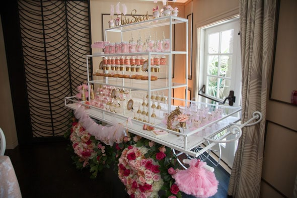 Tutu Cute Baby Shower Sweets Cart via Pretty My Party