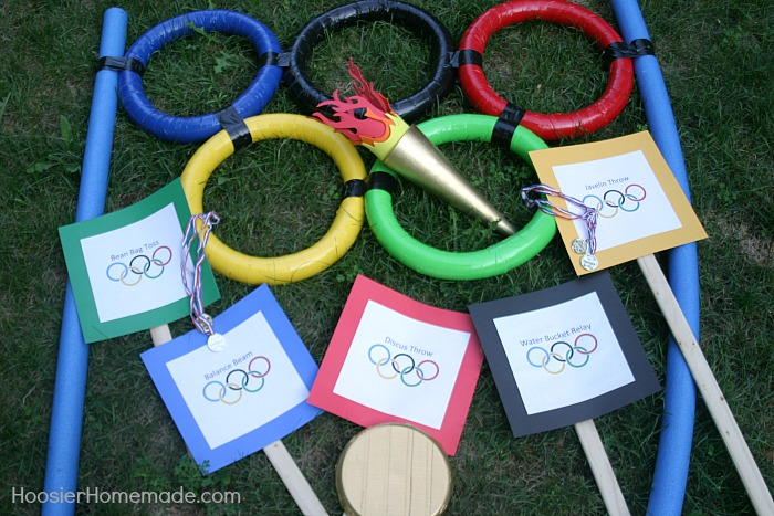 Backyard Olympic Games, 13 Creative Olympic Party Ideas via Pretty My Party