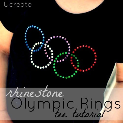 Rhinestone Olympic Rings Tee, 13 Creative Olympic Party Ideas via Pretty My Party