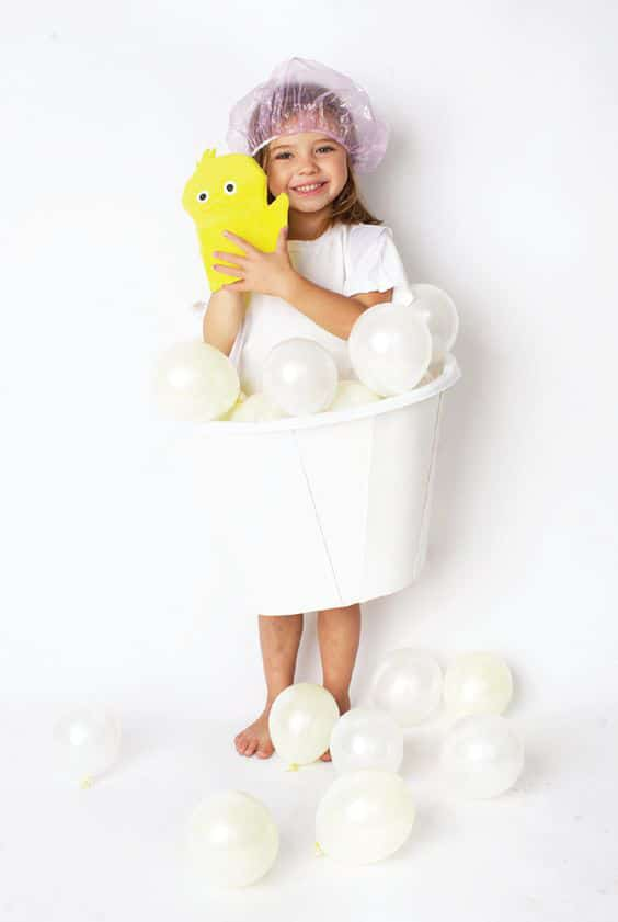 DIY Balloon Bubble Bath Halloween Costume For Kids