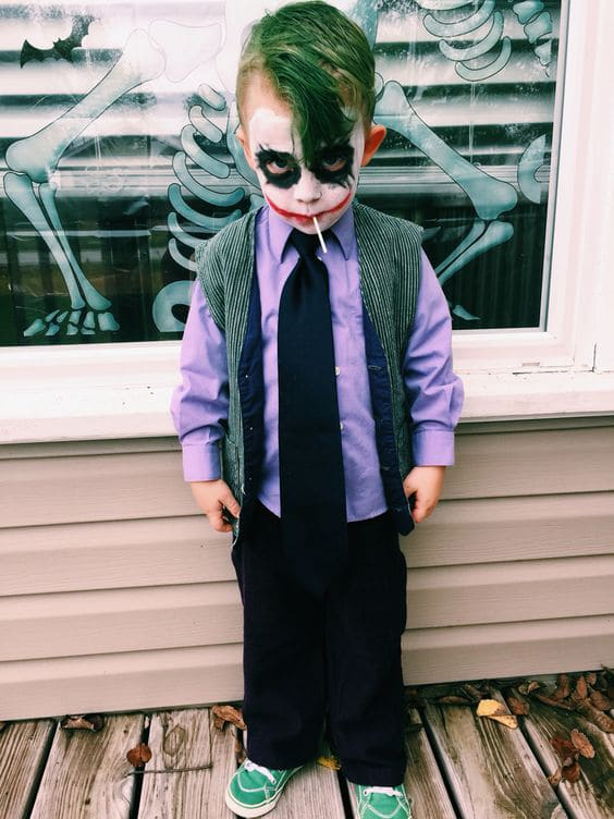 DIY Joker Halloween Costume For Kids