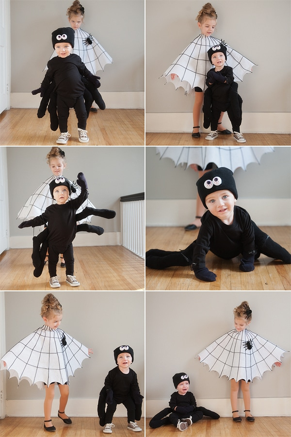 DIY Spider and Spider Web Kids Halloween Costume Ideas