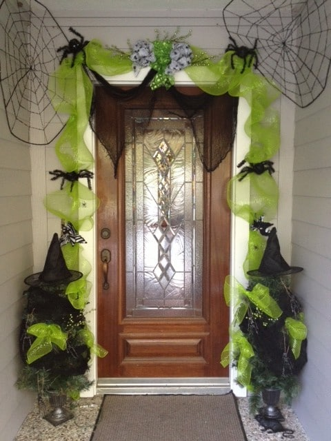 Dollar Store Halloween Door Decorations