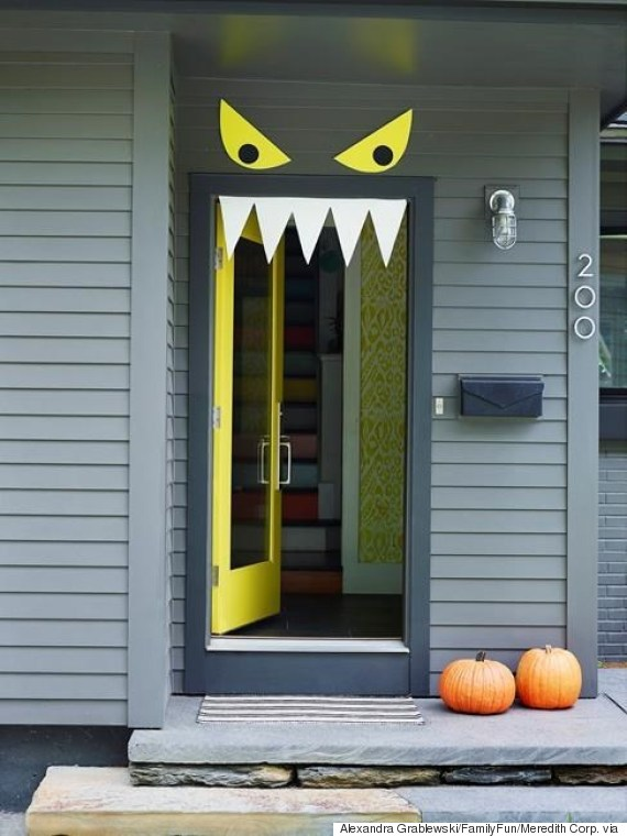 Monster Door Halloween Door Decoration Ideas