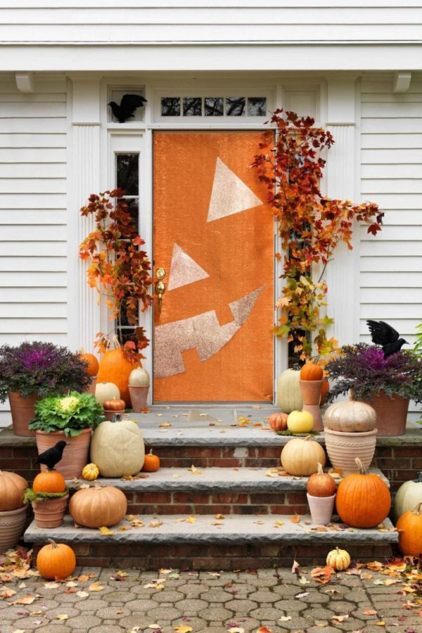 Pumpkin Halloween Door Decorations